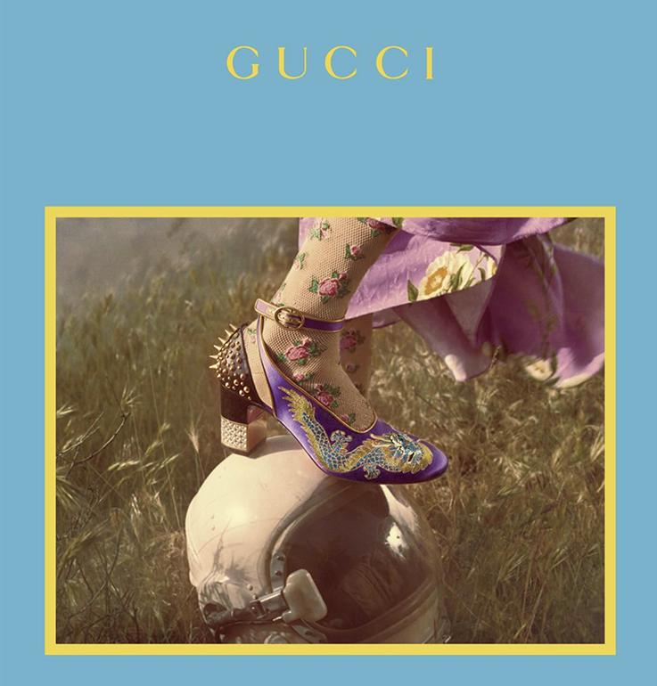GUCCI campaign in ELLE magazine