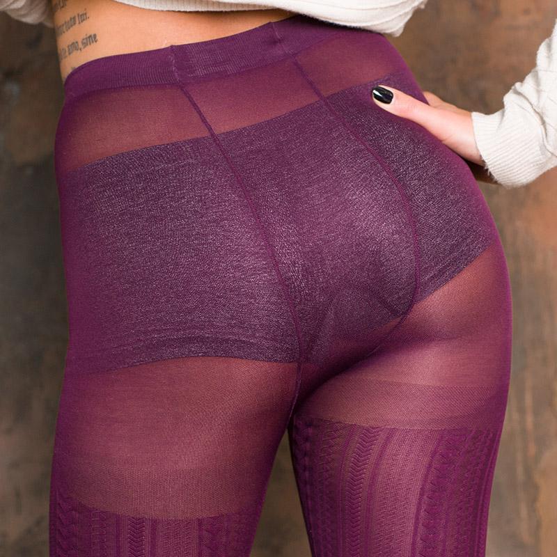 double back seam on fashion pantyhose VOGUE