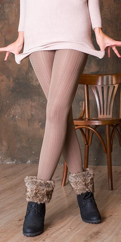 fashion tights VOGUE - brown color