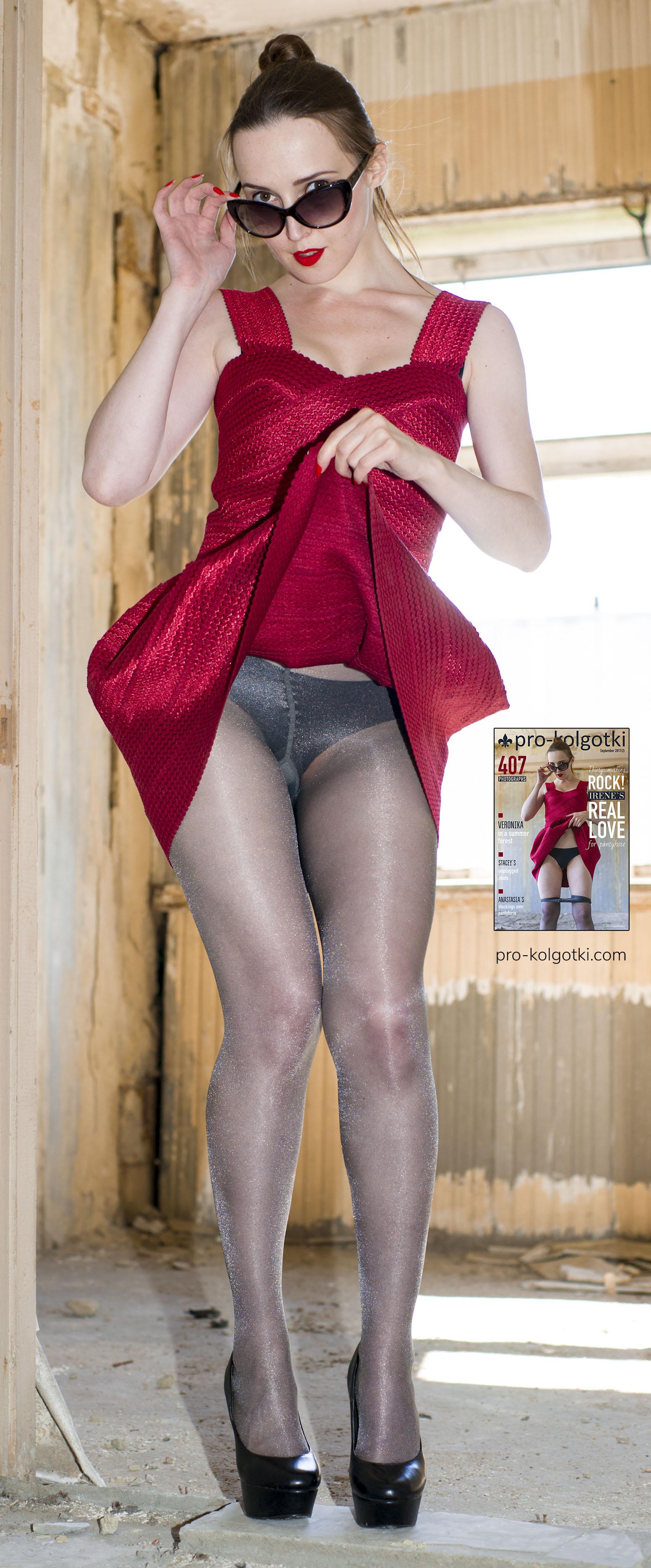 girls full body in sheer tights - picture from pro-kolgotki magazine September 2017 (part 2)