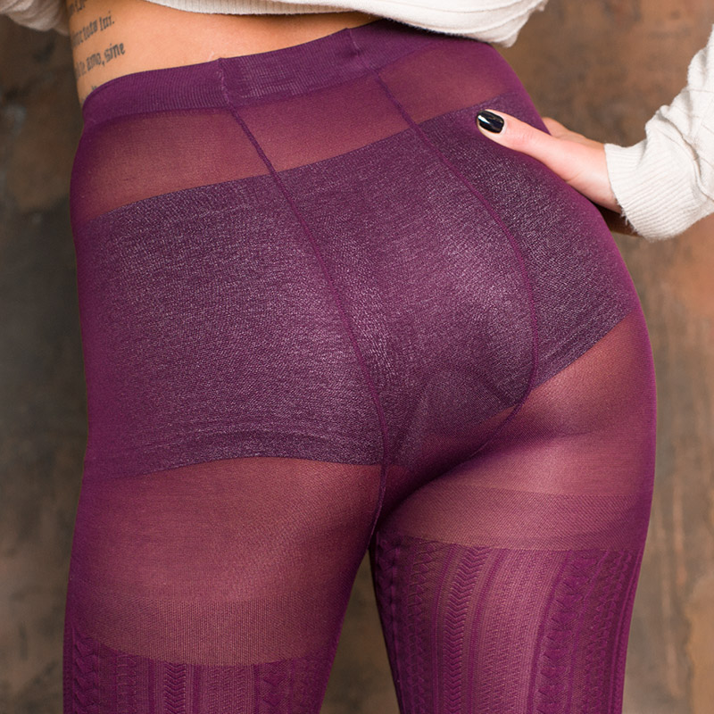 double back seam on fashion pantyhose VOGUE