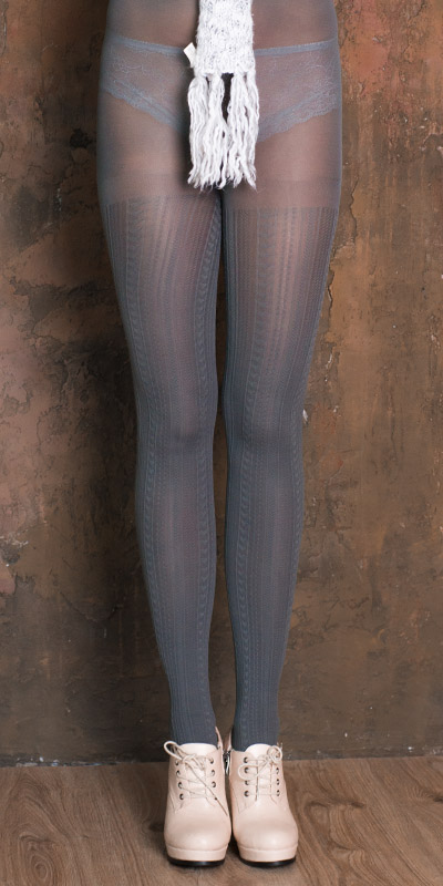 fashion tights VOGUE - grey color