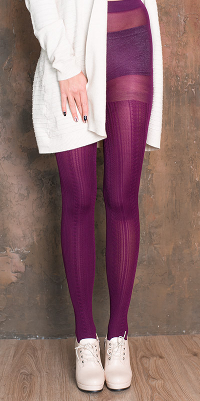 fashion tights VOGUE - purple color