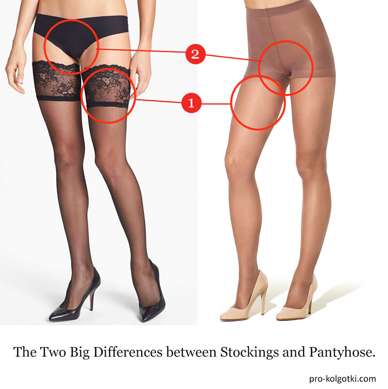 the key differences between stockings and pantyhose