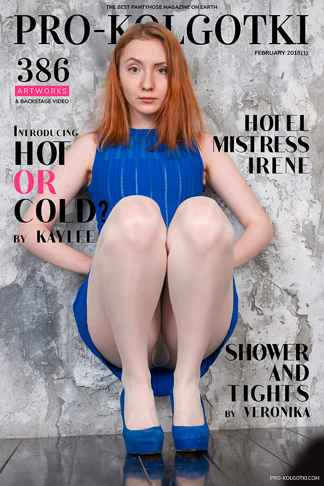Cover of PRO-KOLGOTKI 2018-01(1) pantyhose magazine with Kaylee