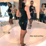 Latex Dress & Fishnet Pantyhose - Irene shooting for PRO-KOLGOTKI magazine