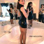 Latex Dress & Fishnet Pantyhose - Irene shooting for PRO-KOLGOTKI magazine