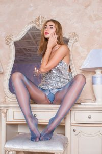 Pantyhose of Emma - Cecilia De Rafael Eterno 15 blue