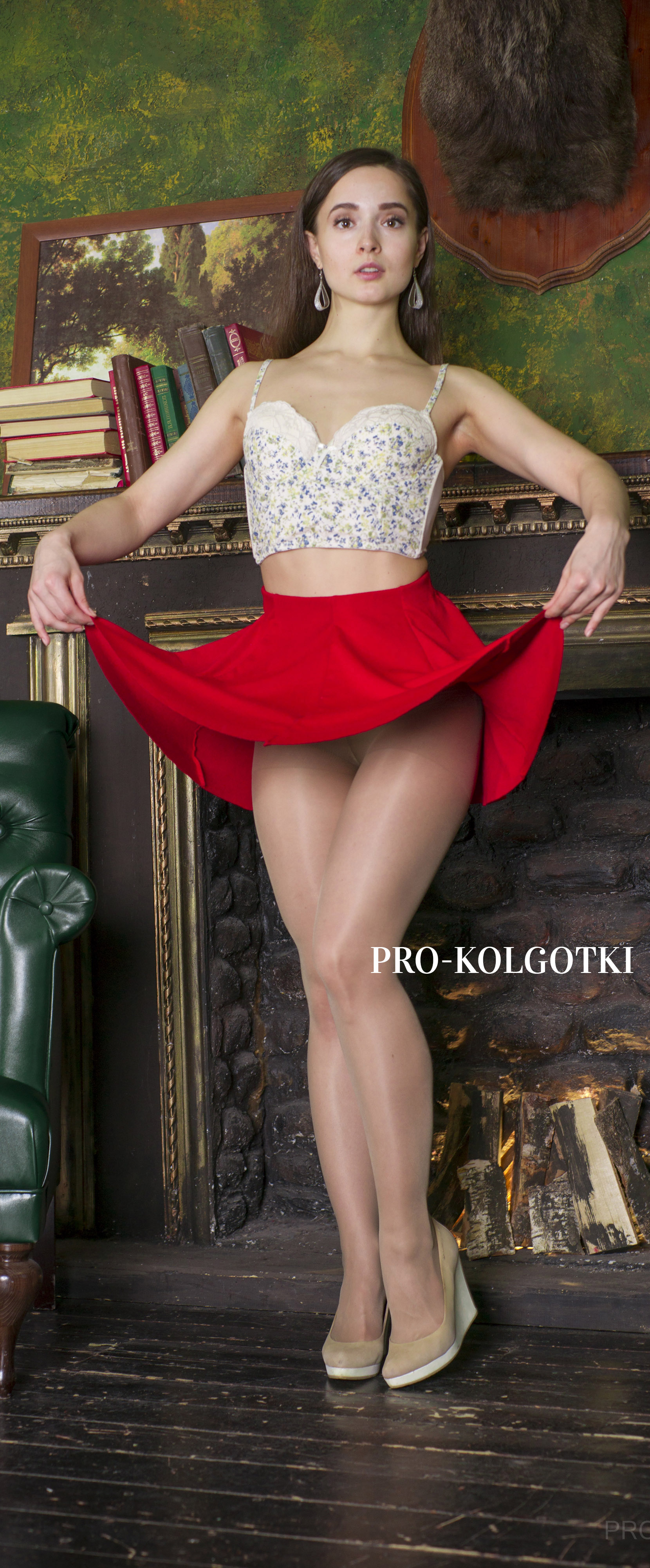 girls in pantyhose - photo from pro-kolgotki magazine April 2018 (part 2)