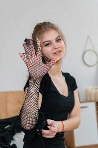fishnet pantyhose of Dia 2019-04(2)