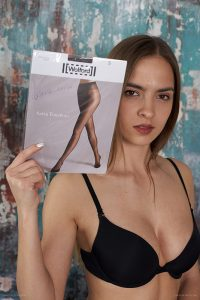 worn pantyhose of Fresh Fresa Wolford Satin Touch 20 Asphalt 2019-06(2)